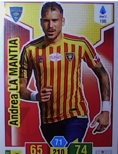 196 - Andrea La Mantia - XL Adrenalyn 2019/20 calciatori Panini