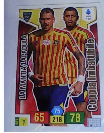 198 - La Mantia/Lapadula - XL Adrenalyn 2019/20 calciatori Panin