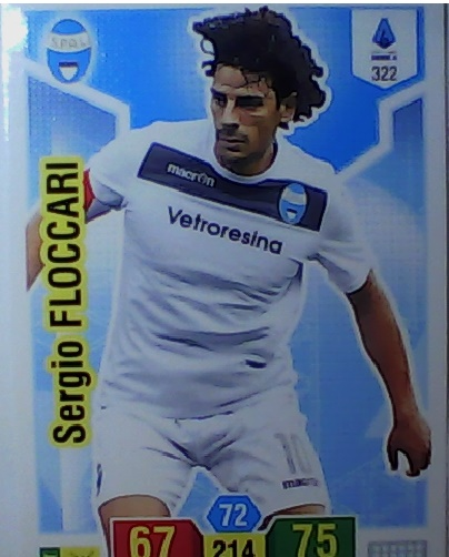 322 - Sergio Floccari - XL Adrenalyn 2019/20 calciatori Panini
