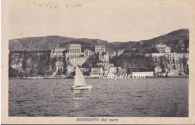 (so-0117) Sorrento Marina Piccola dal mare NV